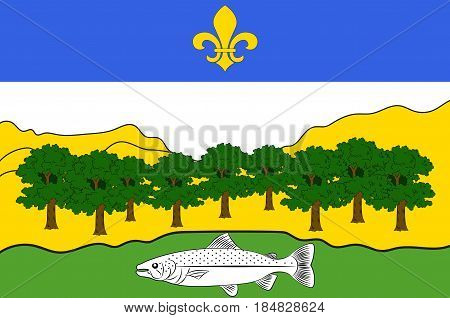 Flag of Nantua is a commune and subprefecture in the Ain department in eastern France