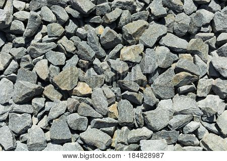 Abstract gravel background. Background of gravel. A photo from above.