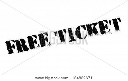 Free Ticket rubber stamp. Grunge design with dust scratches. Effects can be easily removed for a clean, crisp look. Color is easily changed.