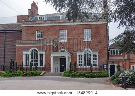 Marlow, UK. 30th April 2017. Court Garden House is a wedding venue facility on the banks of the River Thames and Higginson Park in Marlow, Buckinghamshire.