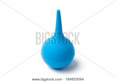 Medical pear enema on a white background