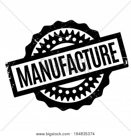 Manufacture rubber stamp. Grunge design with dust scratches. Effects can be easily removed for a clean, crisp look. Color is easily changed.