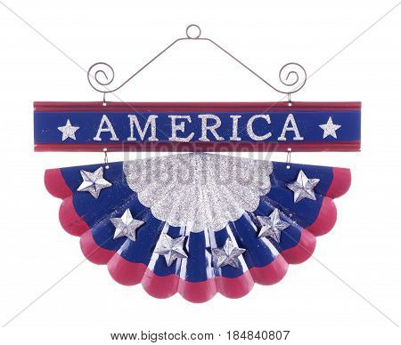 Patriotic american decoration isolated on a white background