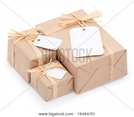 Environmental packaging with white tabs