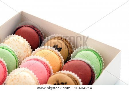 box of french macaroons