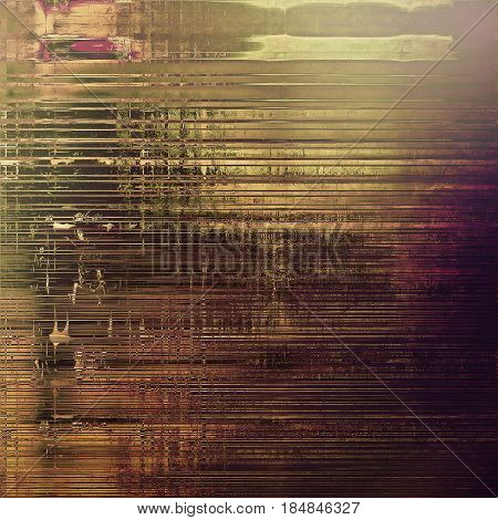 Vintage and retro design elements on faded grunge background. With different color patterns: yellow (beige); brown; gray; purple (violet); pink