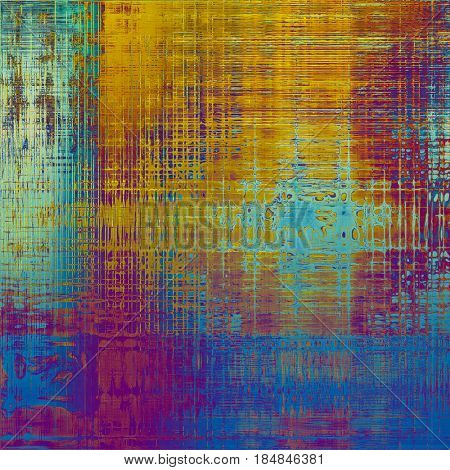 Grunge background or texture with vintage frame design and different color patterns: yellow (beige); blue; red (orange); purple (violet); pink; cyan