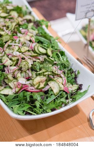 Paleo wedding buffet salad for those dieting and on this special diet at a reception.