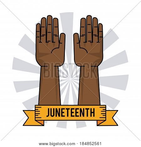 juneteenth day slavery humanitarian symbol vector illustration