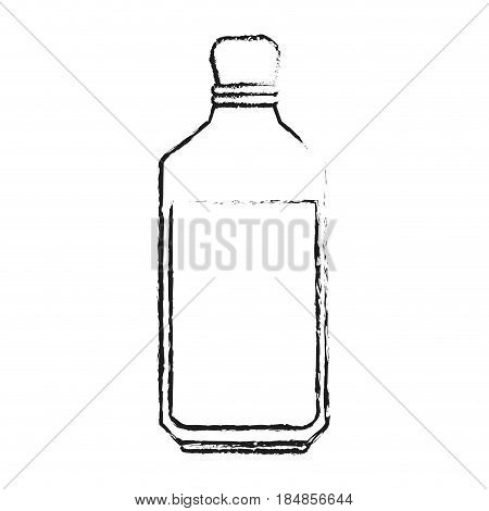 blurred silhouette glass bottle with olive oil vector illustration