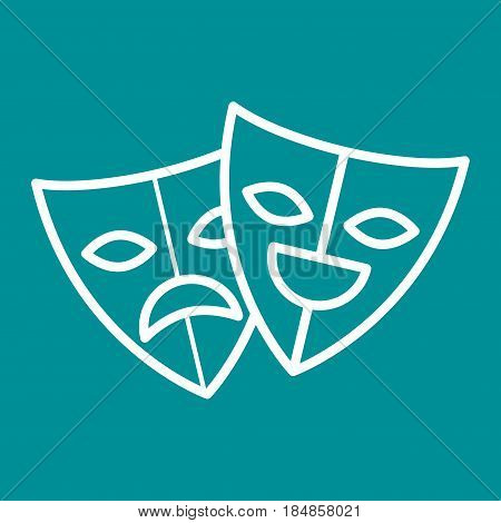 theater masks festival cinema vector illustration design