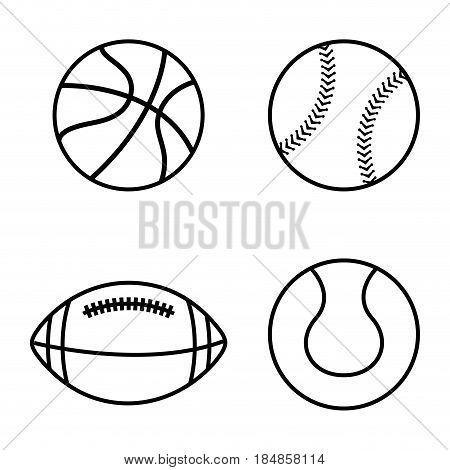 sport balls isolated icon vector illustration design