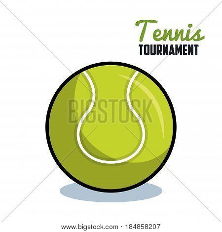 tennis sport ball isolated icon vector illustration design