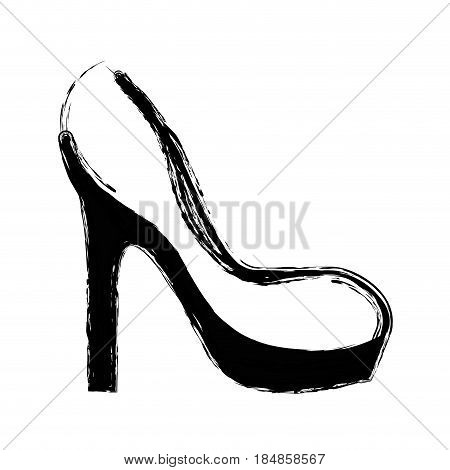 contour fashion heels high shoes, vector illustration