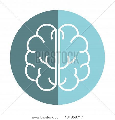 sticker creative brain and mental healthy, vector illustration