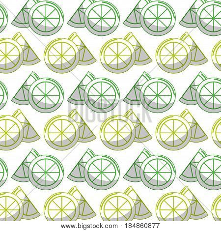 delicious lemon slice and piece fruit background stock, vector illustration design image