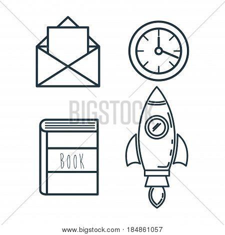 creative startup set icons vector illustration design