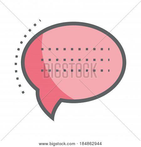 pink chat bubble communication message, vector illustration