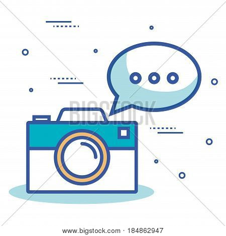 camera photographic with icon vector illustration design