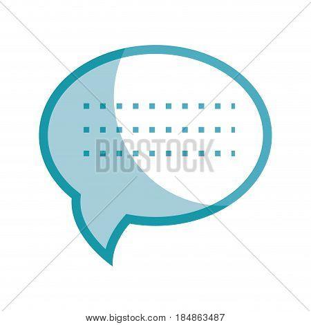silhouette chat bubble communication message, vector illustration