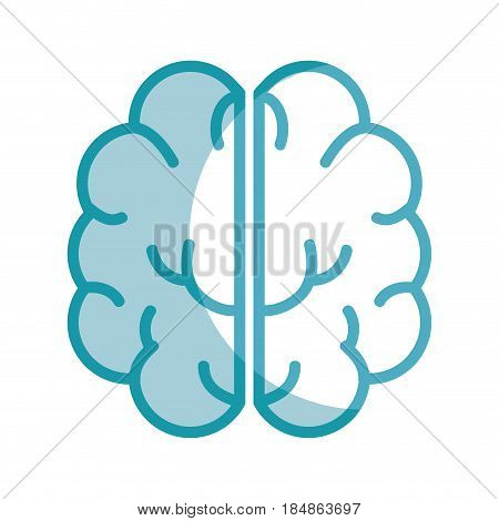 silhouette creative brain and mental healthy, vector illustration