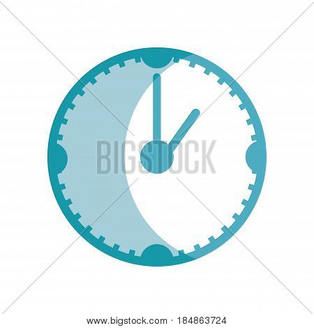 silhouette clock to know the time of day, vector illustrations