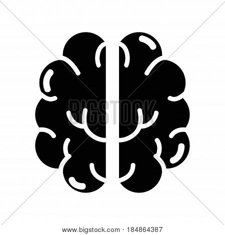 contour creative brain and mental healthy, vector illustration