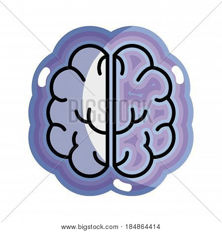 blue creative brain and mental healthy, vector illustration