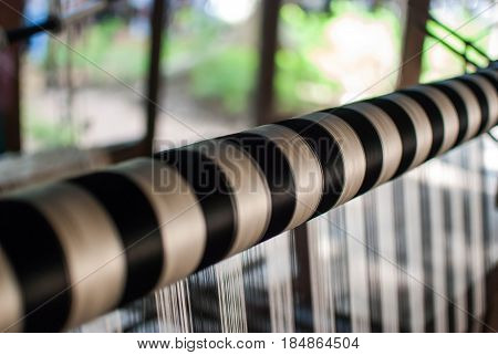 Textile industry weaving and warping in thailand