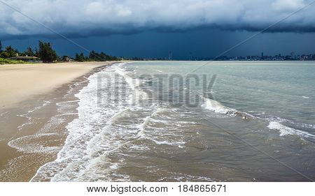 Stormy weather approaches towards Maputo city in Mozambique