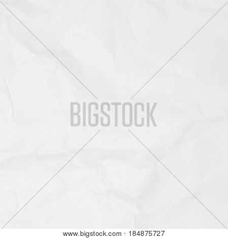Crumpled white paper texture, paper background for design.