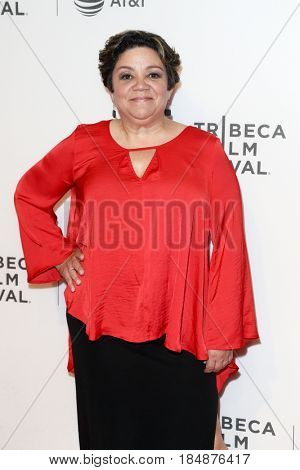 NEW YORK-APR 28: Sol Miranda attends the 'Unbreakable Kimmy Schmidt' screening at BMCC at PAC during the 2017 TriBeCa Film Festival on April 28, 2017 in New York City.