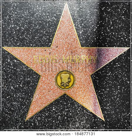 Eddie Murphys Star On Hollywood Walk Of Fame