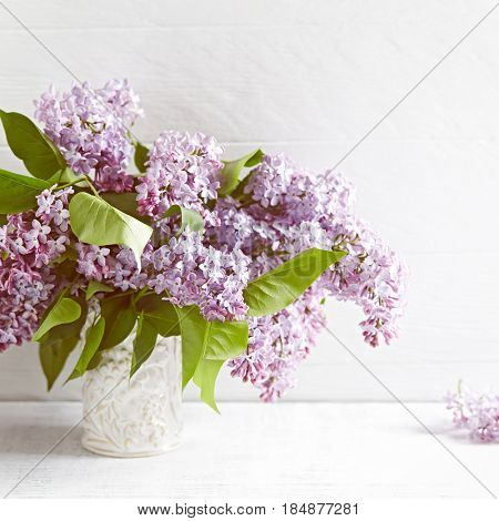 Bouquet of Spring Lilac Flowers