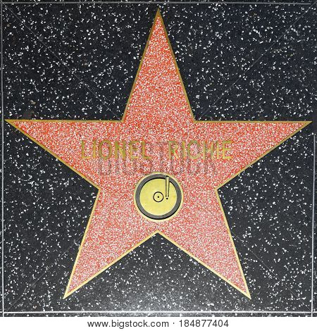 Lionel Richies Star On Hollywood Walk Of Fame