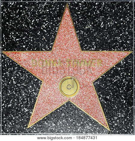 Donna Summers Star On Hollywood Walk Of Fame