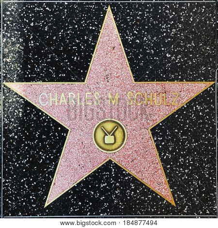 Charles M Schulz Star On Hollywood Walk Of Fame