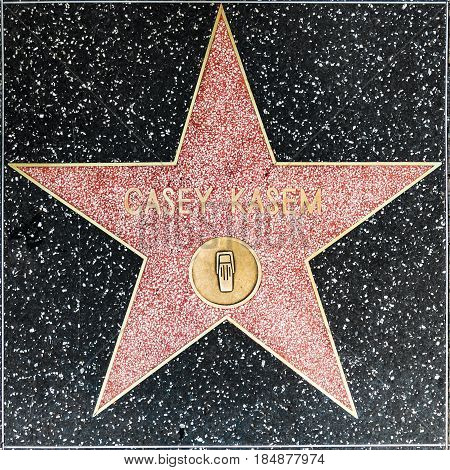 Casey Kasems Star On Hollywood Walk Of Fame