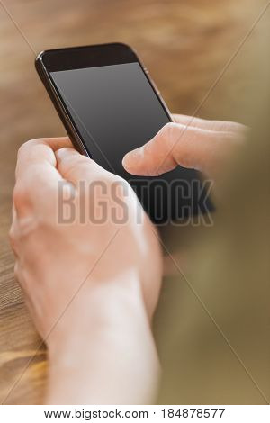 Smartphone With Blank Grey Screen
