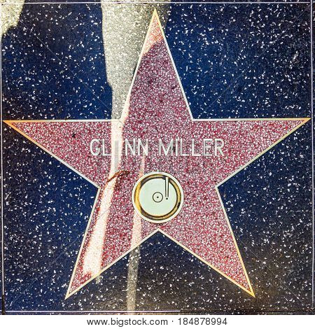 Glenn Millers Star On Hollywood Walk Of Fame