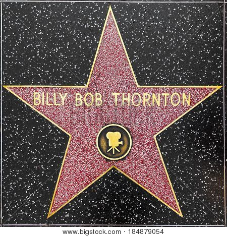 Billy Bob Thorntons Star On Hollywood Walk Of Fame