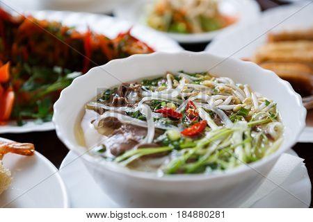Vietnamese Restaurant Menu.delicious Pho Bo Soup