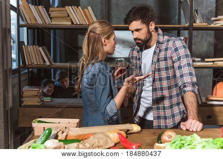 Upset Girl Talking To Boyfriend