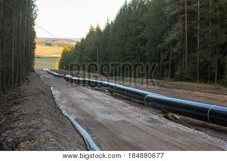 pipeline construction next to Schwandorf in Bavaria