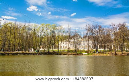Ostafyevo - Moscow estate-museum of Prince Peter Vyazemsky and his descendants, in which historian Karamzin lived and worked, was visited by great poet Pushkin many times. Russia Moscow. April 30, 2017