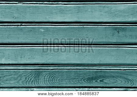 Cyan Color Wood Wall Pattern.
