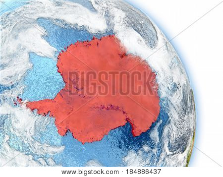 Antarctica On Model Of Earth