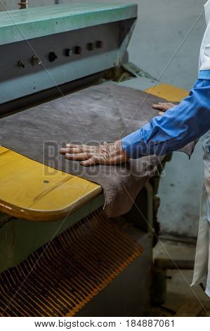 Workers in production process, background, work, industry
