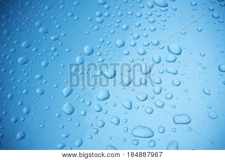 Water drops background textured on the metal surface