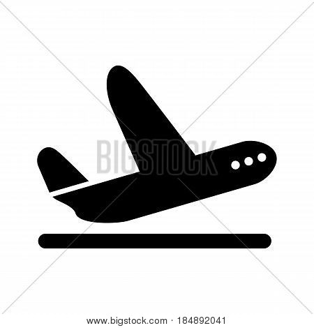 Airplane Takeoff vector icon. Style is graphic symbol. eps 10
